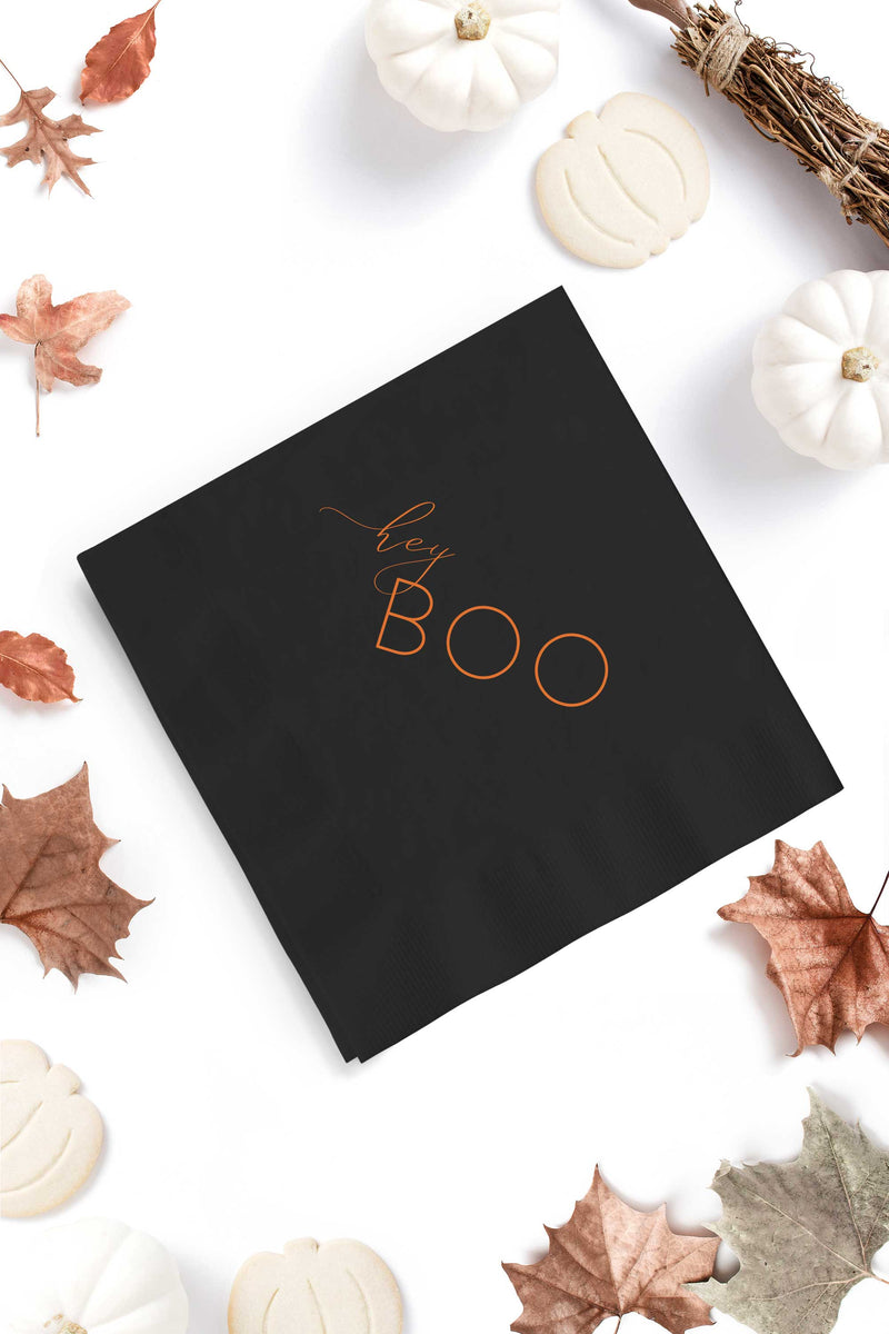 Hey Boo Halloween Cocktail Napkins - Tea and Becky