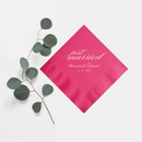 Custom Wedding Napkins Just Married - Audrey Collection - Tea and Becky