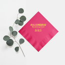 Hashtag Napkins - Foil Personalized Napkins - Tea and Becky