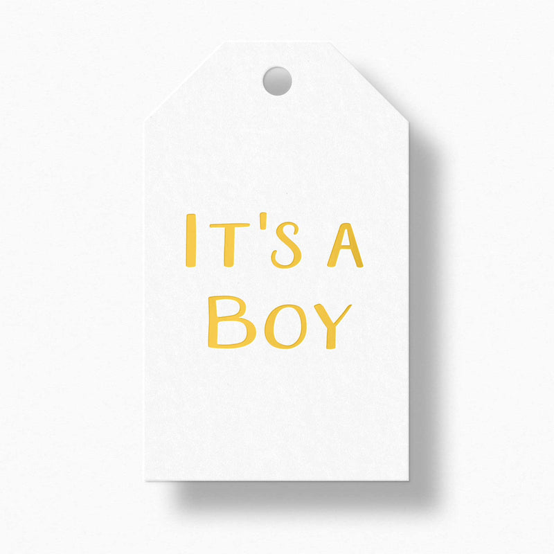 It's a Boy Gift Tags - Tea and Becky