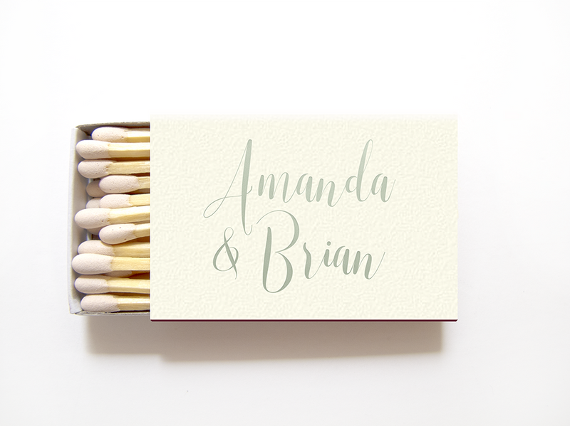 Personalized Matchboxes - Foil Matches - Monica Collection - Tea and Becky