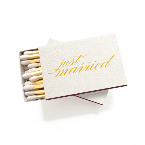 Just Married Matchboxes - Set of 6 - Tea and Becky