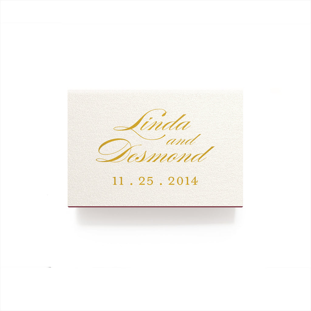 Just Married Matches - Foil Personalized Matchboxes - Audrey ...