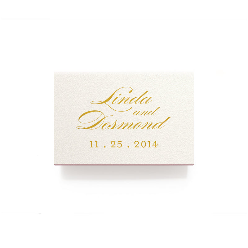 Just Married Matches - Foil Personalized Matchboxes - Audrey Collection - Tea and Becky