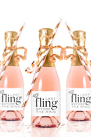 Last Fling Before the Ring Mini Champagne Bottle Labels - Tea and Becky