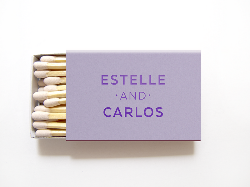 Personalized Matchboxes - Foil Matches - Amelie Collection - Tea and Becky