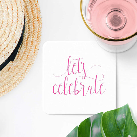 Let's Celebrate Coasters - Set of 10 - Tea and Becky