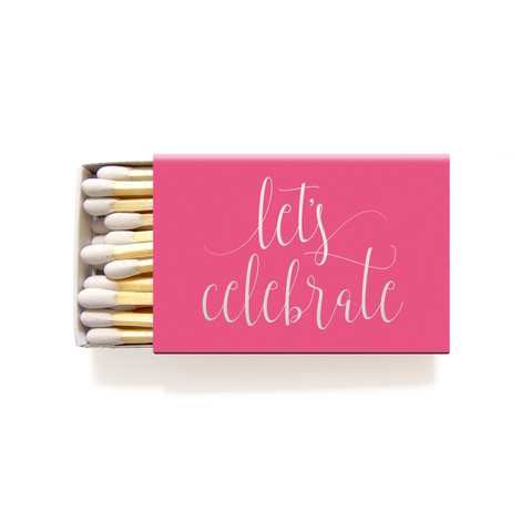 Let's Celebrate Matches - Foil Personalized Matchboxes - Charlotte Collection - Tea and Becky