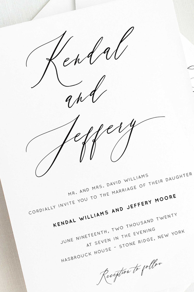 Letterpress Wedding Invitations - Andrea Collection - Tea and Becky