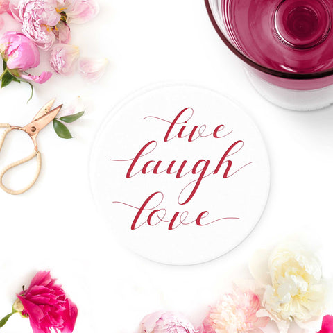 Live Laugh Love Coasters - Tea and Becky