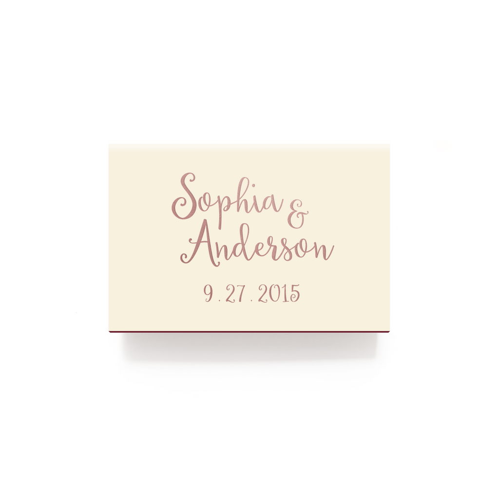 Love and Cherish Matchboxes - Foil Personalized Matches - Alicia ...