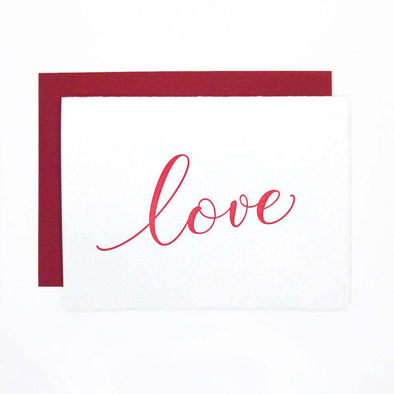 Love Letterpress Greeting Card - Tea and Becky