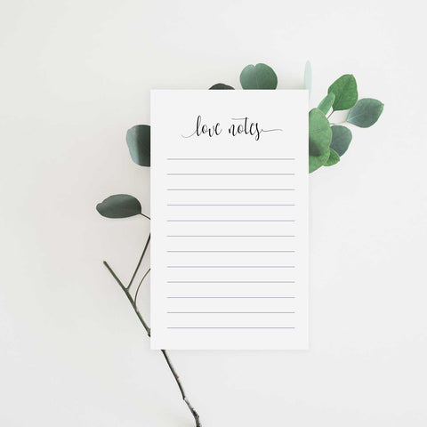 Love Notes Notepad - Memo To Do List - Tea and Becky