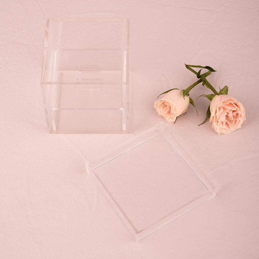 Lucite Wedding Ring Box – Tea and Becky
