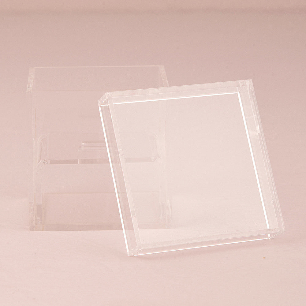 Lucite Wedding Ring Box  Tea And Becky