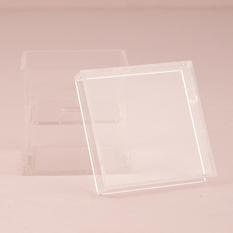 Lucite Wedding Ring Box - Tea and Becky
