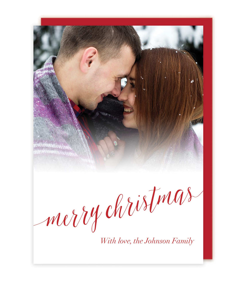 Photo Merry Christmas Cards - Foil Letterpress or Flat Printed - Tea and Becky