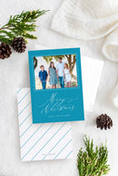 Merry Christmas Photo Christmas Cards - Flat Printed Foil or Letterpress - Tea and Becky