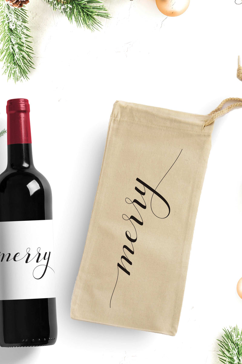 Merry Wine Bag - Free Shipping - Tea and Becky