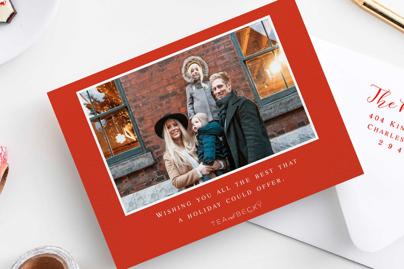 A Merry Little Christmas Photo Holiday Cards - Foil Letterpress or Flat Printed - Tea and Becky