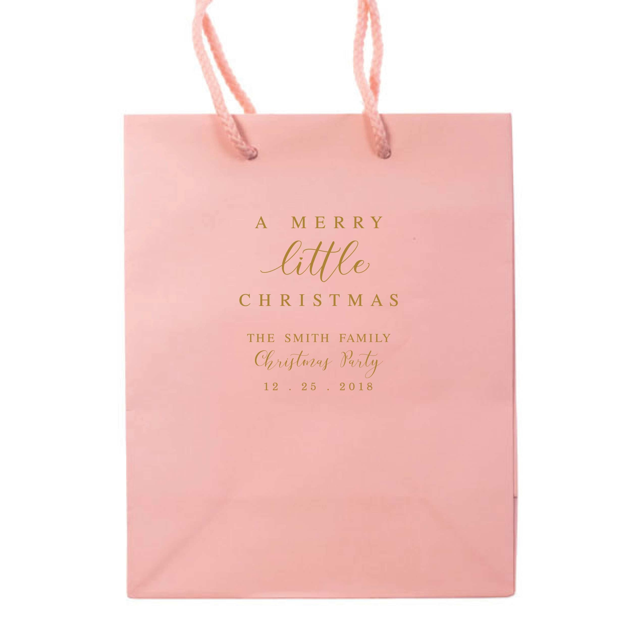 merry little christmas gift bags personalized holiday gift bag tea and becky