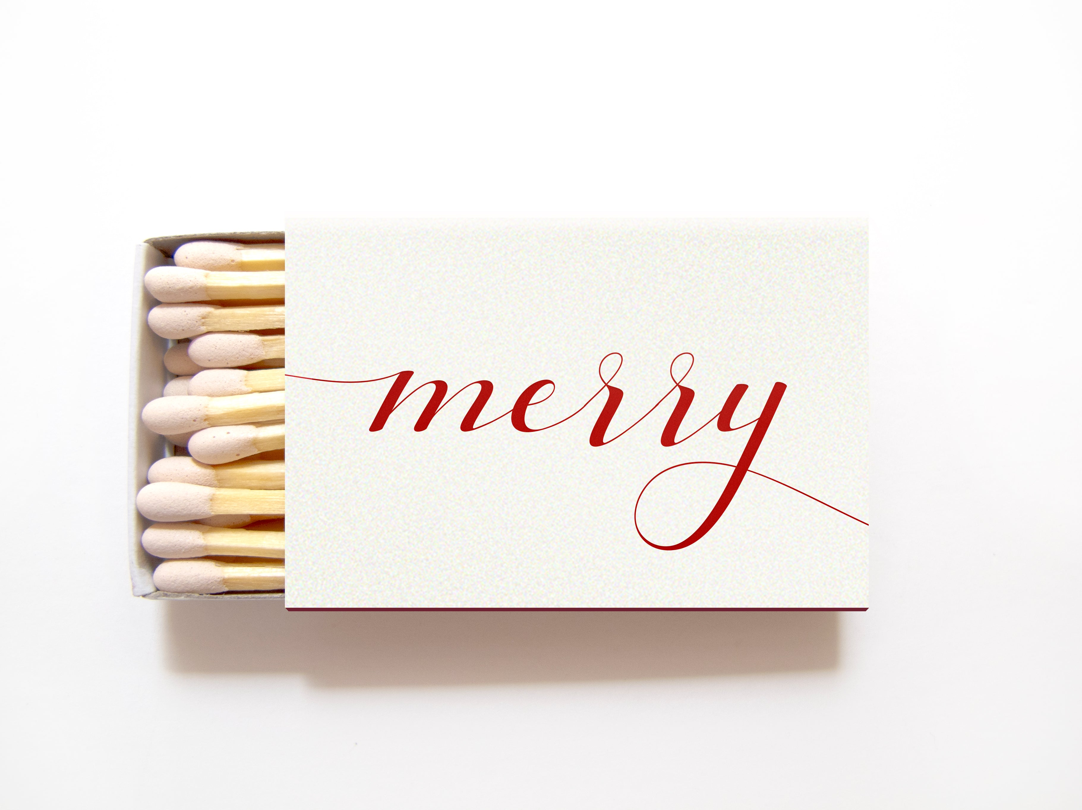 merry holiday matchboxes personalized holiday matches tea and becky