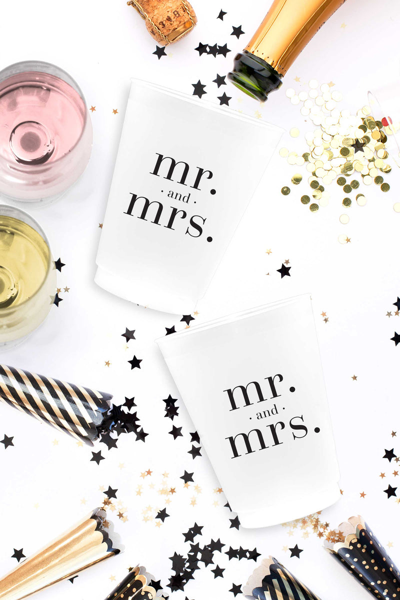 Mr and Mrs Cups - 16 oz - Set of 10 - Tea and Becky