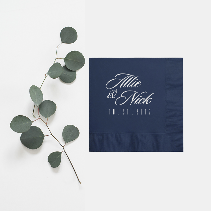 Personalized Wedding Napkins - Carrie Collection - Tea and Becky