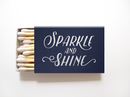 Sparkle and Shine Matchboxes - Foil Personalized Matches - Emma Collection - Tea and Becky