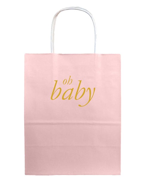 Oh Baby Gift Bags - Pink - Tea and Becky