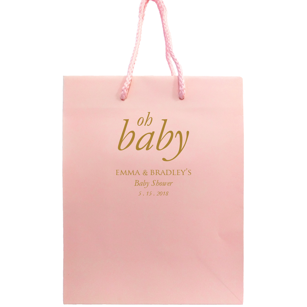 Baby gift bags tea and becky oh baby bags personalized gift bag nora collection images 1 2 negle Gallery