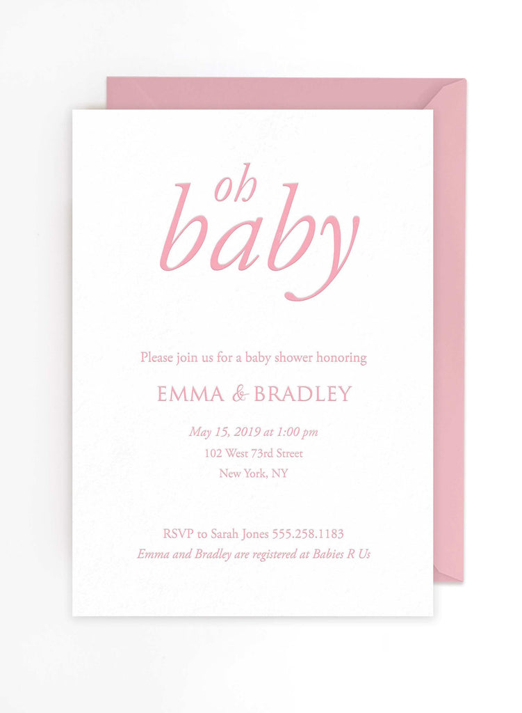 Baby Shower Invitations Tea and Becky