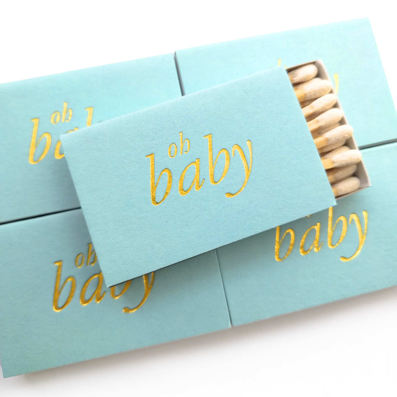 Oh Baby Matchbox - Blue and Gold - Tea and Becky