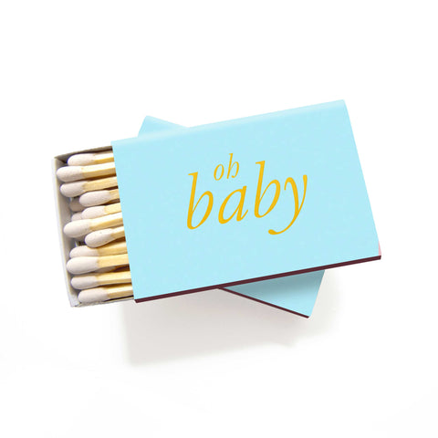 Oh Baby Matchboxes - Blue and Gold - Set of 6 - Tea and Becky