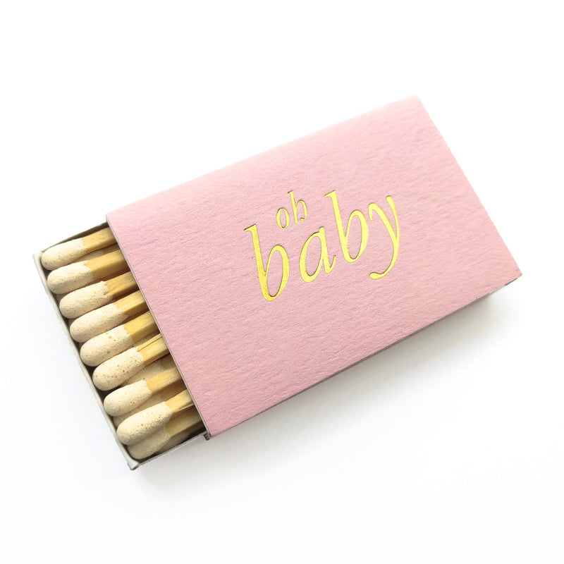 Oh Baby Matchboxes - Pink and Gold - Tea and Becky