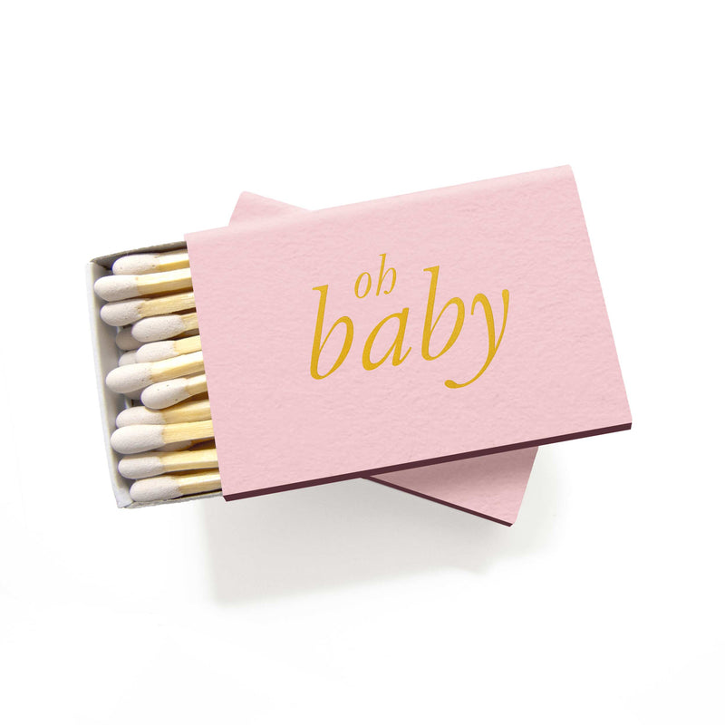 Oh Baby Matchboxes - Pink and Gold - Set of 6 - Tea and Becky