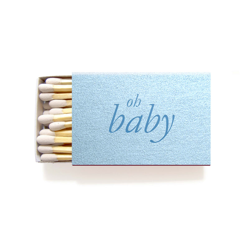 Oh Baby Matchboxes - Personalized Foil Matches - Nora Collection - Tea and Becky