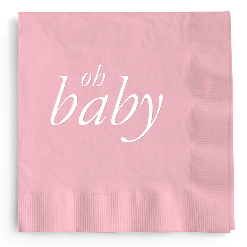 Oh Baby Napkins - Pink - Tea and Becky