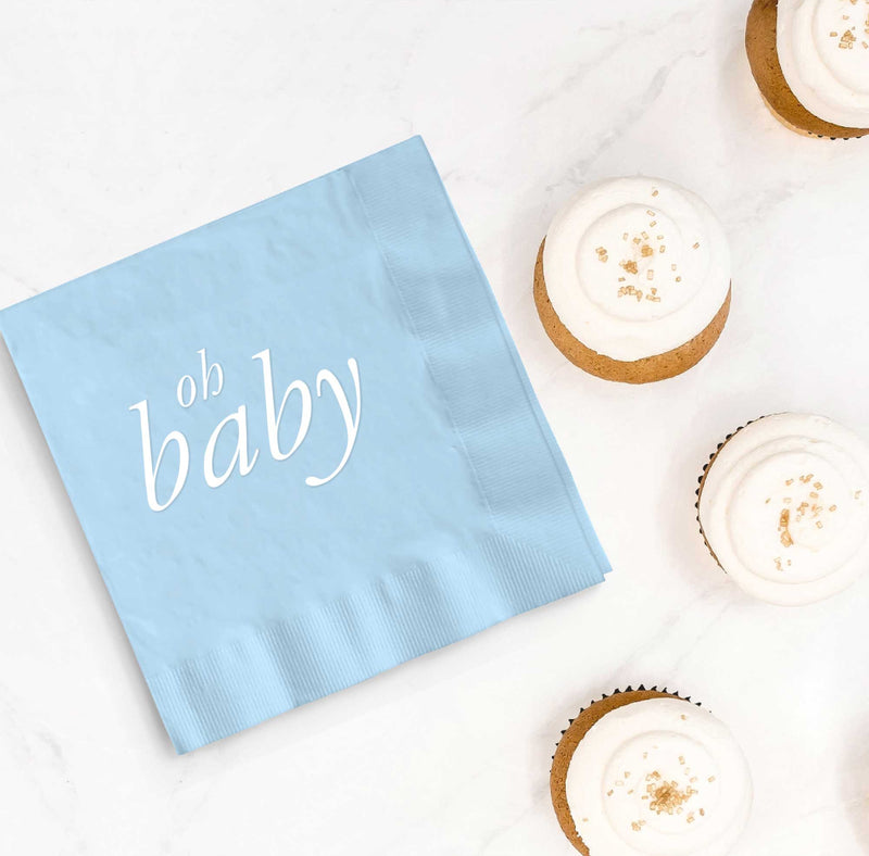 Oh Baby Napkins - Blue - Tea and Becky