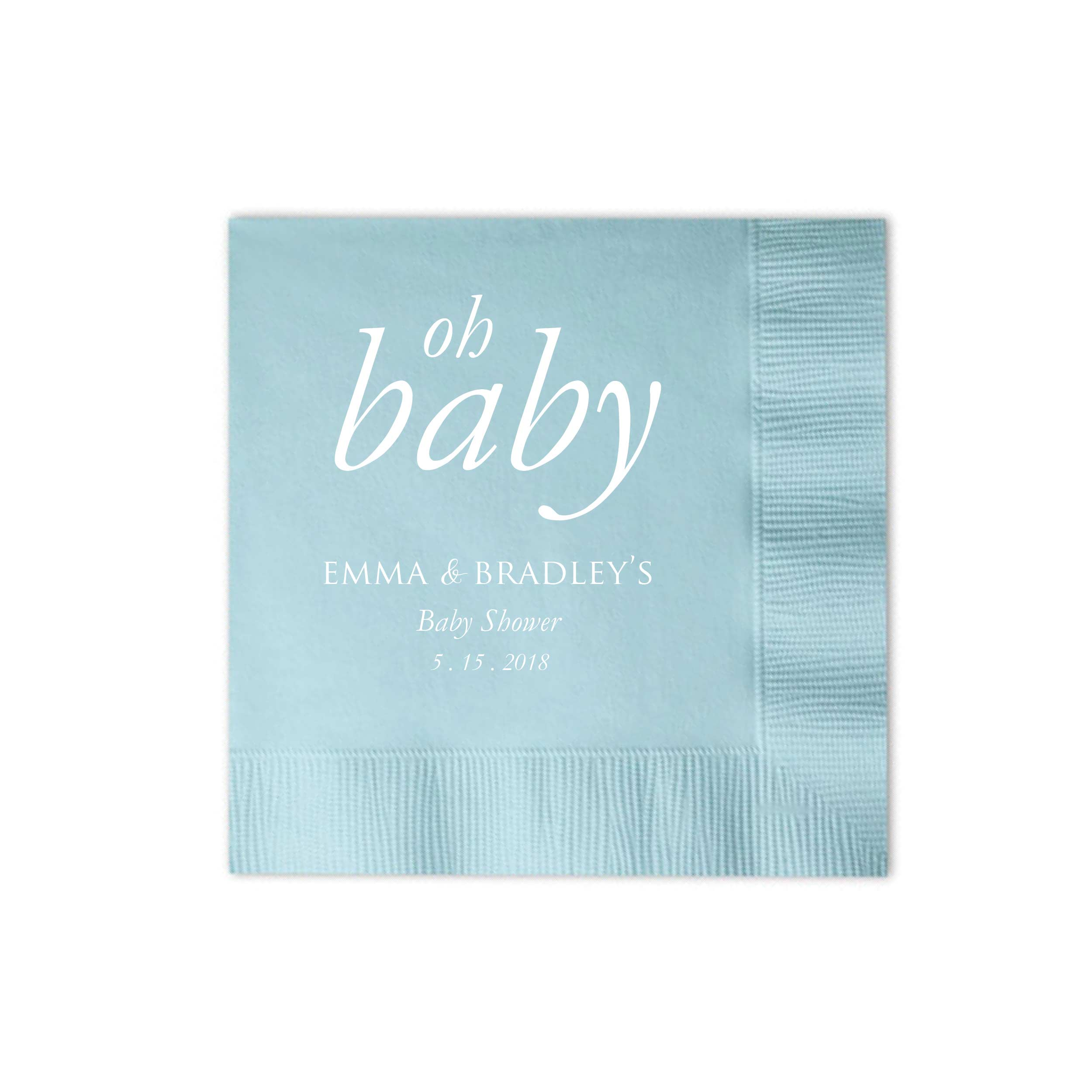 Personalized Baby Shower Napkins   Set Of 50 Oh Baby Napkin   Nora  Collection   Tea