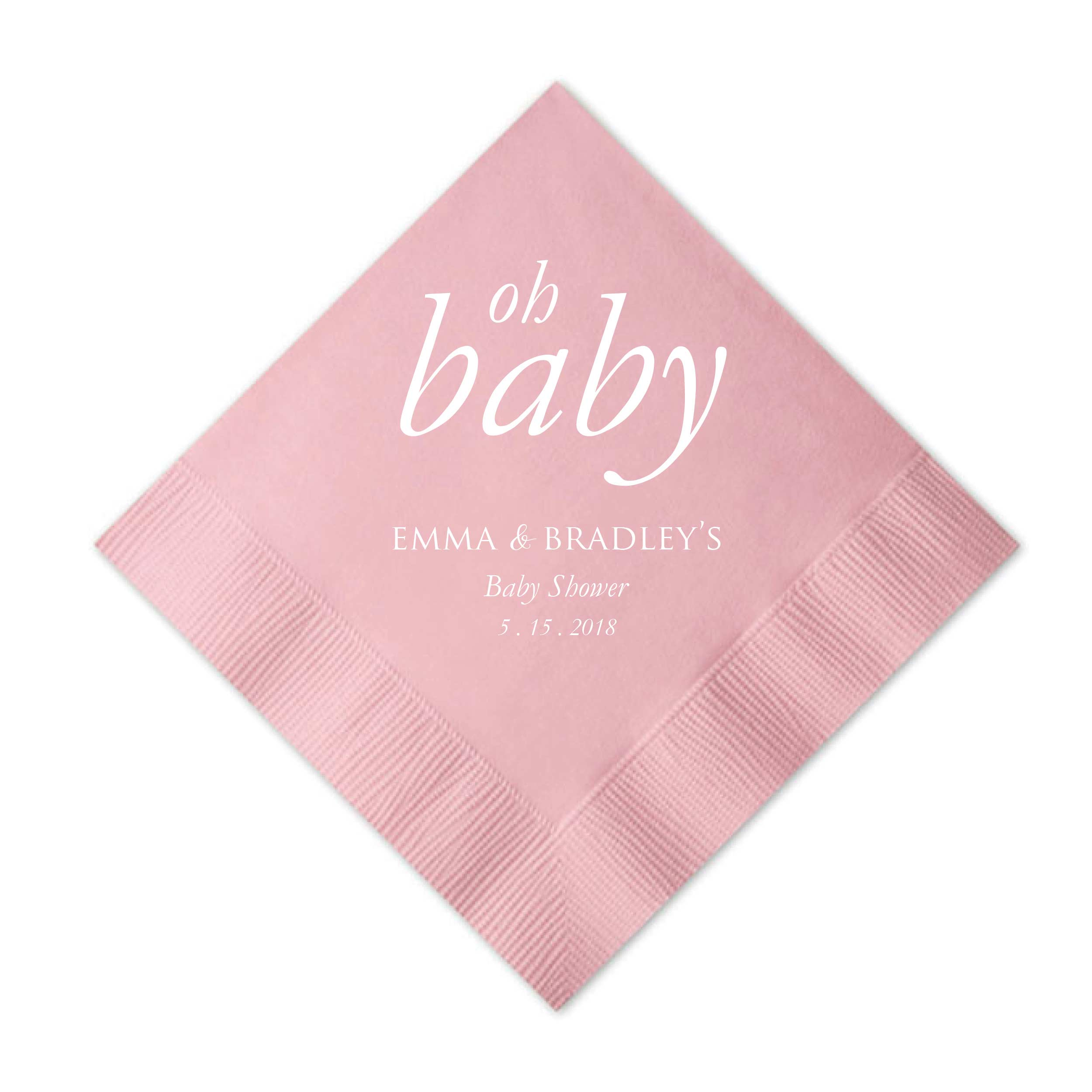 Superb Oh Baby Napkins   Set Of 50 Personalized Baby Shower Napkin   Nora  Collection   Tea