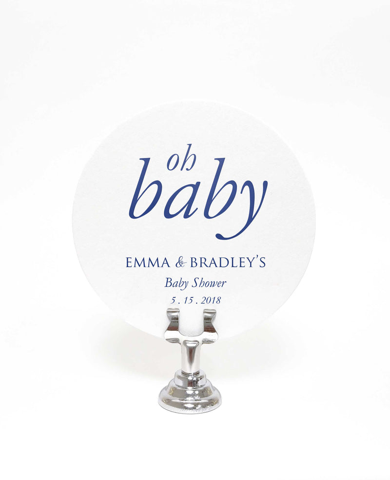 Baby Shower Coasters – Set of 100 Personalized Coasters - Tea and Becky