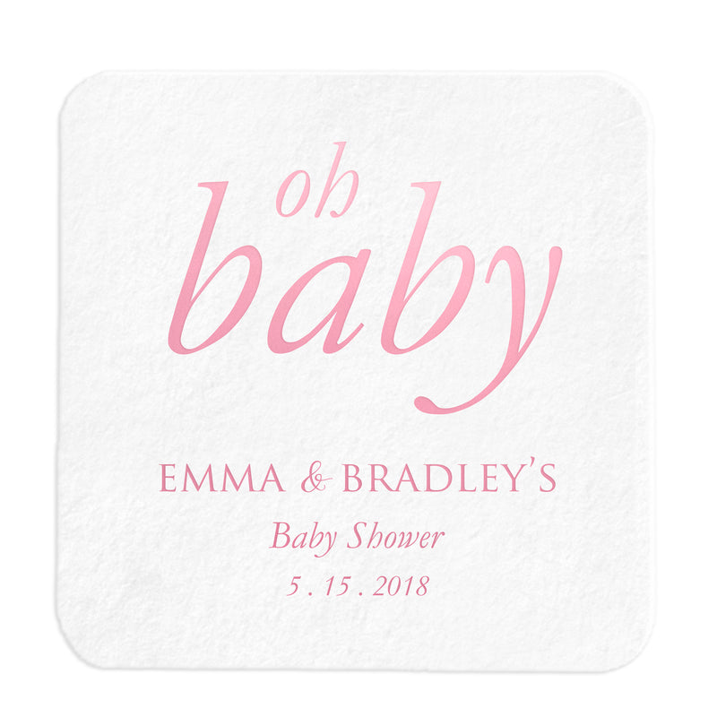 Personalized Oh Baby Coasters - Tea and Becky