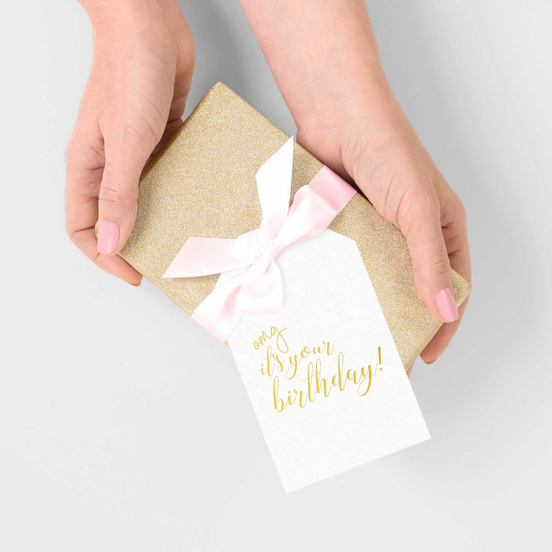 OMG It's Your Birthday Gift Tags - Tea and Becky