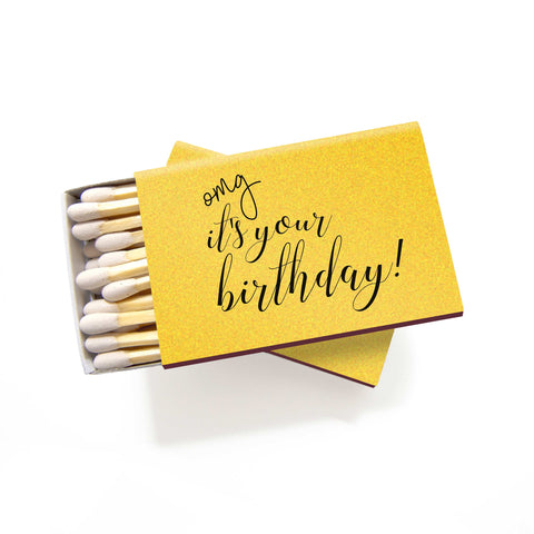 OMG It's Your Birthday Matchboxes - Set of 6 - Tea and Becky