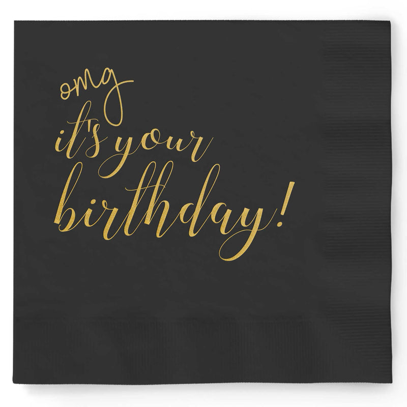 OMG It's Your Birthday Napkins - Set of 25 - Tea and Becky