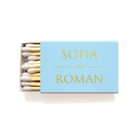 Personalized Matchboxes - Foil Matches - Helen Collection - Tea and Becky