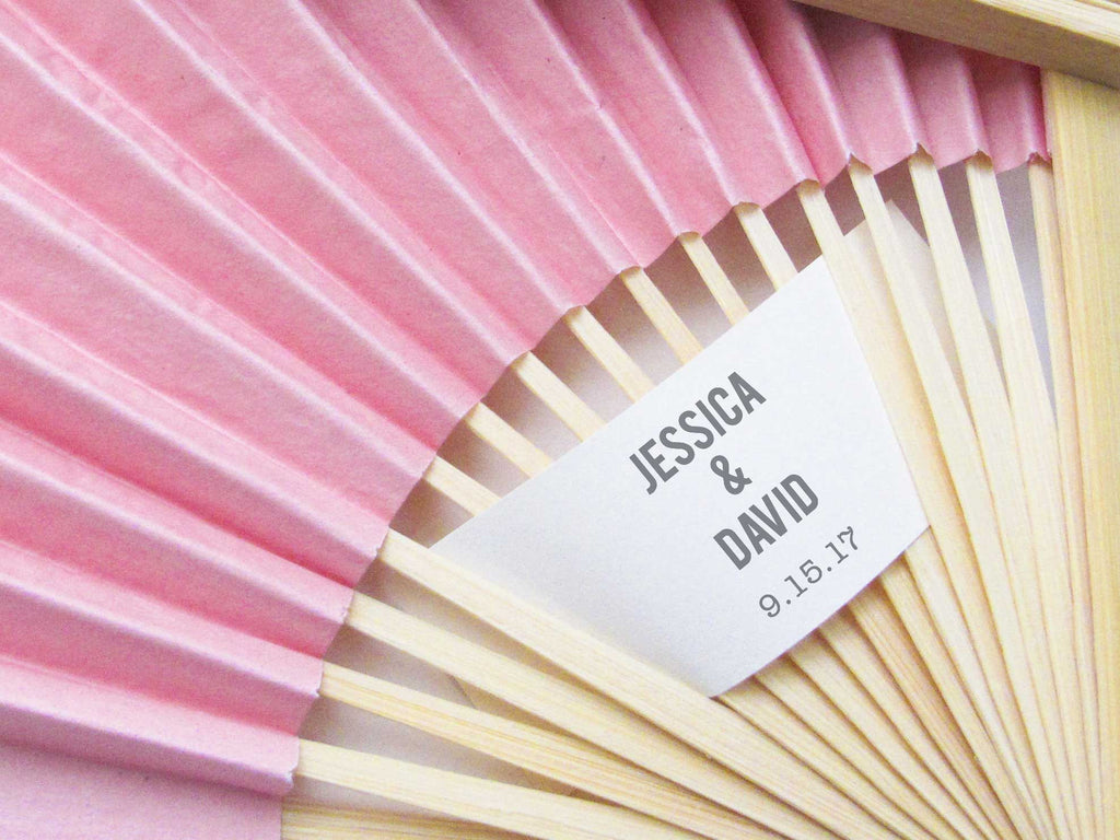 Personalized Fans - Set of 25 - Wedding Favors – More Colors – Tea ...