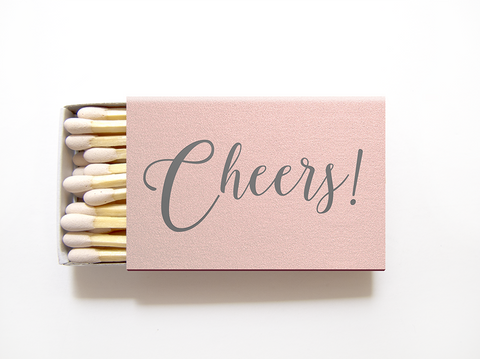 Cheers Matches - Foil Personalized Matchboxes - Rebecca Collection