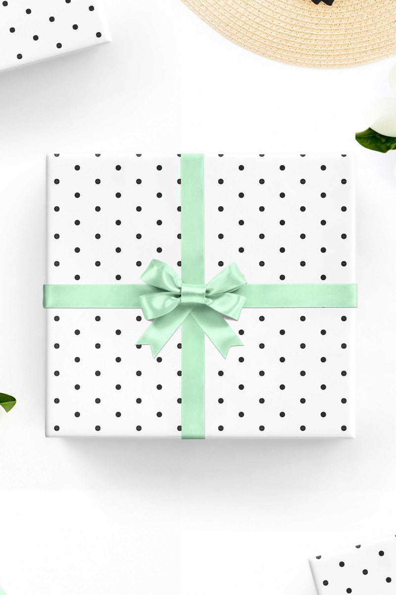 Polka Dot Wrapping Paper Sheets - Free Shipping - Tea and Becky